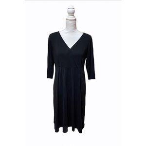 """Eileen Fischer Black 3/4"""" Sleeves Shift Dress"""